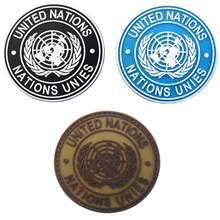International L'ONU Des Nations Unies Véritable Patch D'épaule Insigne Nouveau Brodé Appliques Couture Accessoires Brassard