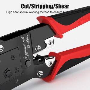 Image 5 - SAMZHE Crimping Plier חוט Tracker RJ11/12/45 כבל מלחץ עבור 6P/8P Ethernet וטלפון כבל ביצוע
