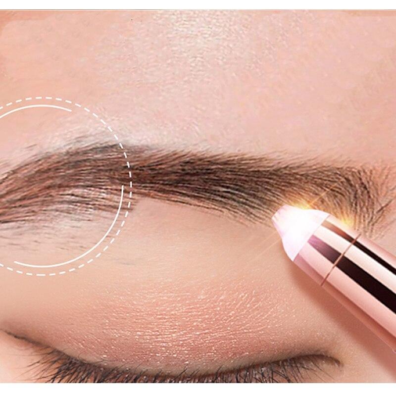 Nuevo diseño recortador eléctrico de cejas maquillaje indoloro ojo frente depiladora Mini afeitadora Razors portátil utensilio para eliminar el vello Facial para las mujeres|recortador de cejas|   - AliExpress