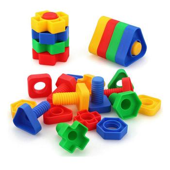 Dzieci STEM Screw zabawki do budowania nakrętki i śruby demontaż zabawki konstrukcyjne połączenie dla dzieci chłopcy dziewczęta tanie i dobre opinie muddy Puddles Z tworzywa sztucznego Not Eat BHTTL-003 5-7 lat 2-4 lat 8 ~ 13 Lat Transport Fantasy i sci-fi Zawodów