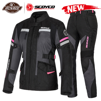 цена на SCOYCO 2020 Reflective Waterproof Motorcycle Jacket Men Women Motocross Protection Motocross Off Road Touring Jacket With Linner