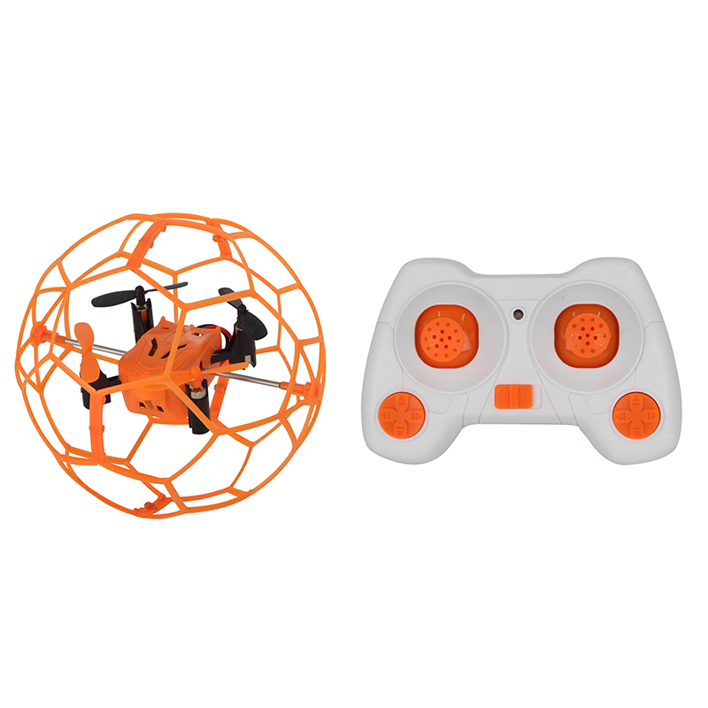 HeLicMax Mini Drone 1340 with Spherical Protective Shell Quadcopter Toy Flip RC Ball Fly Ball 3D Flip Roller Indoor Flying Toy