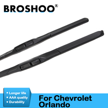 цена на BROSHOO Car Clean The Windshield Wiper Blade Rubber 24&19 For Chevrolet Orlando Fit Hook Arms 2010 2011 2012 2013 2014 2015