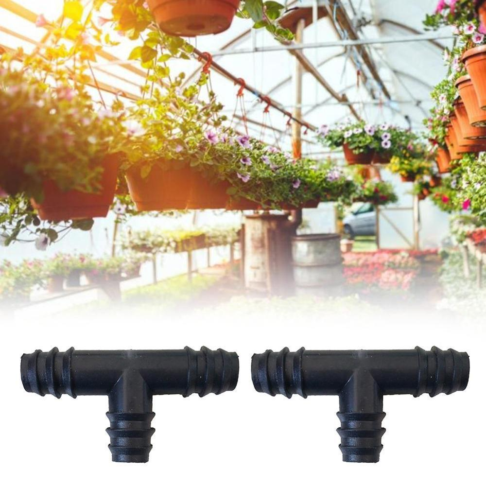 20PCS Plastic Barb Hose Fitting Tee Connector 16mm PE Tube 3-Way Hose Joint Tube T-Shape Pipe Fittings image