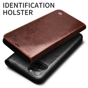 Image 4 - QIALINO Genuine Leather Flip Case for iPhone 11/11 Pro Max Handmade Phone Cover with Card Slots for iPhone 12 Mini/12 Pro Max