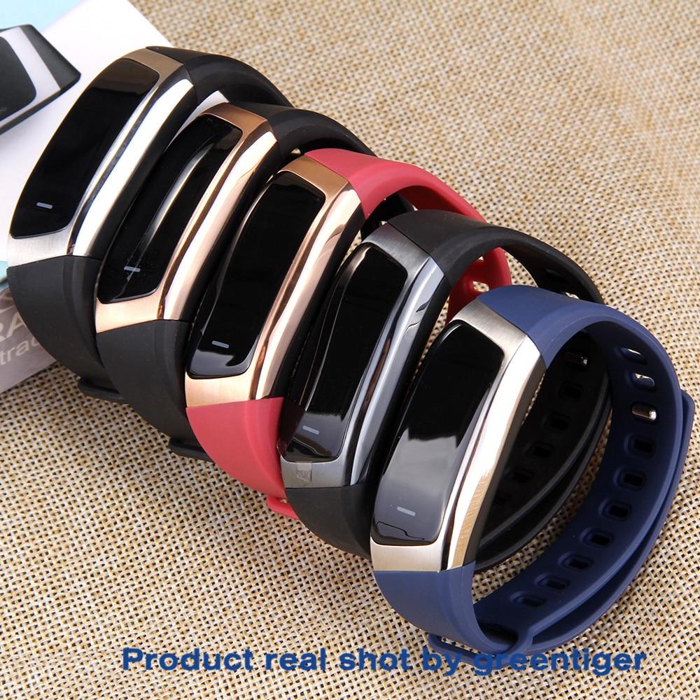 Hae9fd9dbf79a471094c442f7fd260098z Greentiger E18 Smart Bracelet Blood Pressure Heart Rate Monitor Fitness Tracker smart watch IP67 Waterproof camera Sports Band