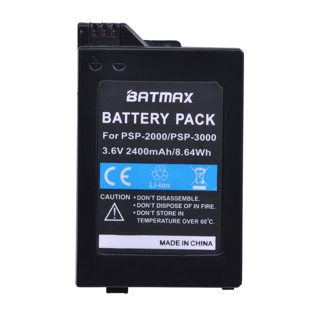 Batmax 1Pc 2400mAh Battery For Sony PSP2000 PSP3000 PSP 2000 PSP 3000 Gamepad Battery For PlayStation Portable Controller image