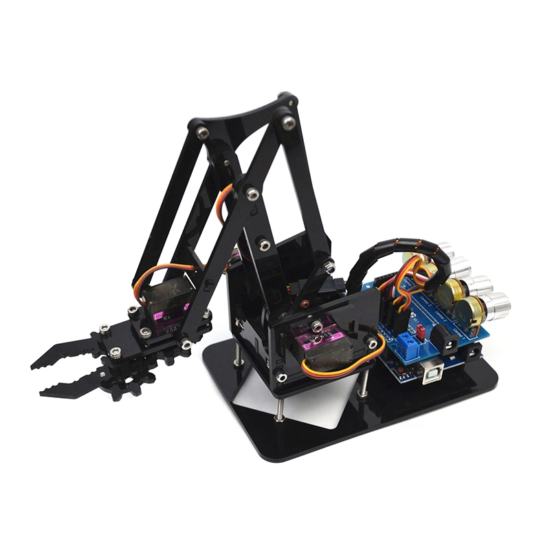 Diy Acrylic Robot Arm Robot Claw For Arduino Kit 4Dof Toys Mechanical Grab Manipulator Diy|Vacuum Cleaner Parts| |  - title=