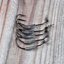 5 шт/лот свинцовый джиг рыболовный крючок колючий кривошипный
