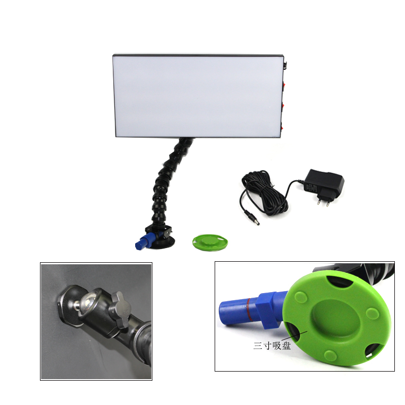 110v/220v pump suction cups with high quality light stand with adjustable lock line pipe car dent repair pdr tools acessorry