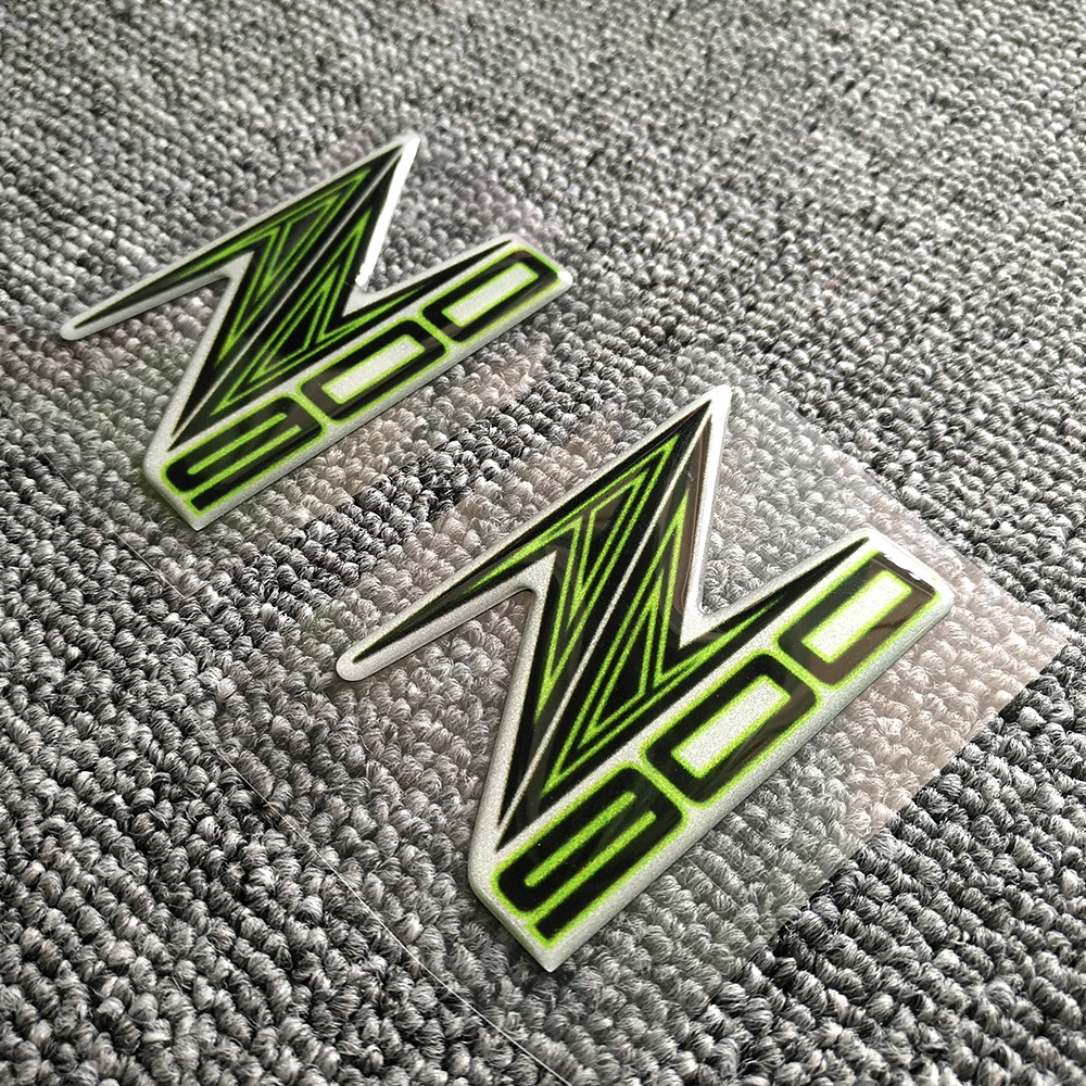 Color : 1 Motorrad-Zubeh/ör 3D-Echt Tankpad Aufkleber Aufkleber Emblem passend for Kawasaki Z900 2017
