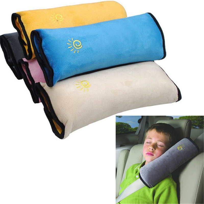Baby Pillow Pad Car Auto Safety Seat Shoulder Belt Protector Child Safety Strap Micro-suede Fabric Car Seat Belts Pillow J0120