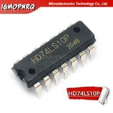 10PCS HD74LS10P DIP14 HD74LS10 DIP SN74LS10N 74LS10 New and Original IC