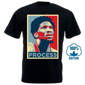 quality Popular Trust The Process Joel Embiid 76Ers 3D Printed Men's 100% Cotton T Shirt High Quality Short Sleeve Tees(China)