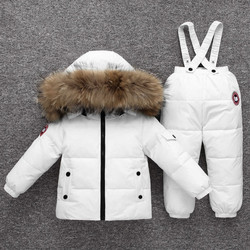 Children Snowsuit -30 Degree Russia Winter Down Jacket  Clothing Sets Baby Girl Kids Clothes for Boy Parka Coat+ Pants Ski Suit