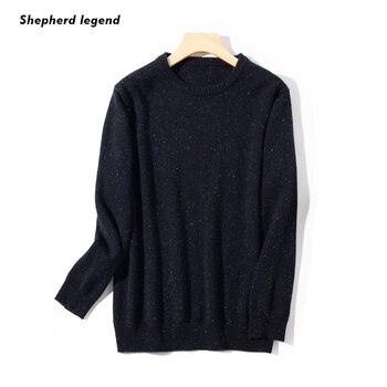 PAMIR 100% кашемир супертонкий мериносовой длинный рукав вязаный зимний мужской свитер джемпер с круглым вырезом модная Новая мужская одежда с