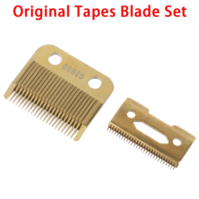 Movable Blade Professional Hair Clipper Blade Replace Cutter Head Metal Bottom Clipper  Accessories Golden Blade