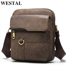WESTAL men's bags vintage shoulder bag f
