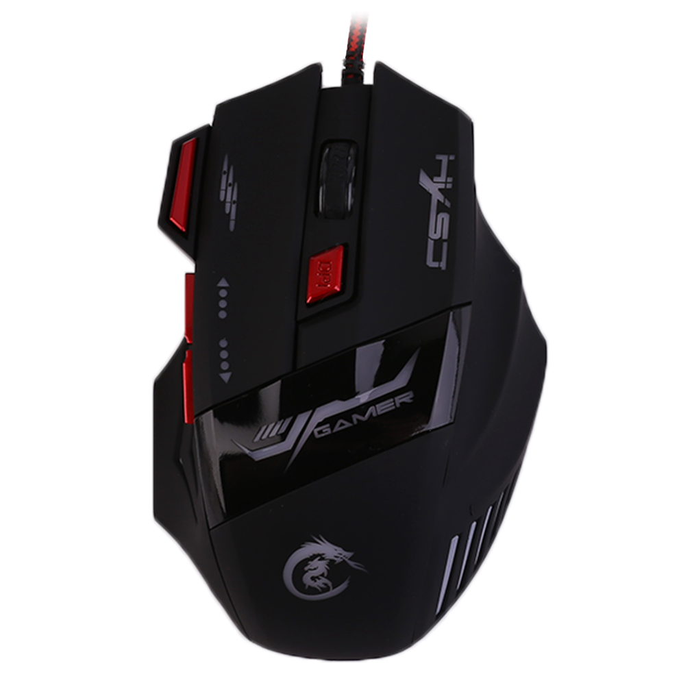H100 Professional Gaming Mice Devices Adjustable 5500DPI Wired Gaming Mouse 7 Buttons Luminescence Computer Mouse For PC Laptop