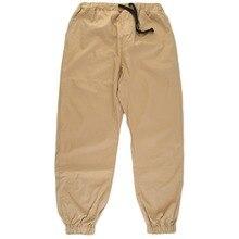 Autumn Winter Men Full Sportswear Pants Loose Cotton Mens Fitness Workout Pants Jogger Man Pocket Trousers Elastic Waist