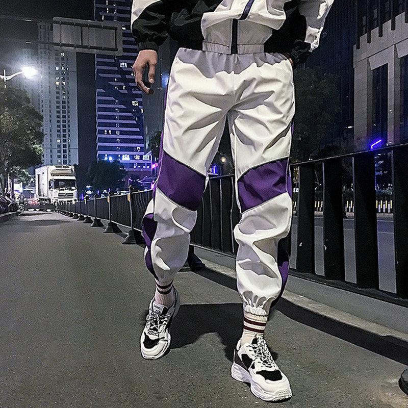 Streetwear 2020 New Summer Men Women Sweatpant Reflective Pants Joggers Hip Hop Men Jogger Baggy Trousers Ankle-Length Pants