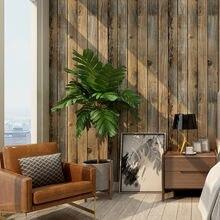 Retro falso casca de grão de madeira e vara papel de parede auto-adesivo prancha de madeira papel de parede rolo removível vinil revestimento de parede para restaur