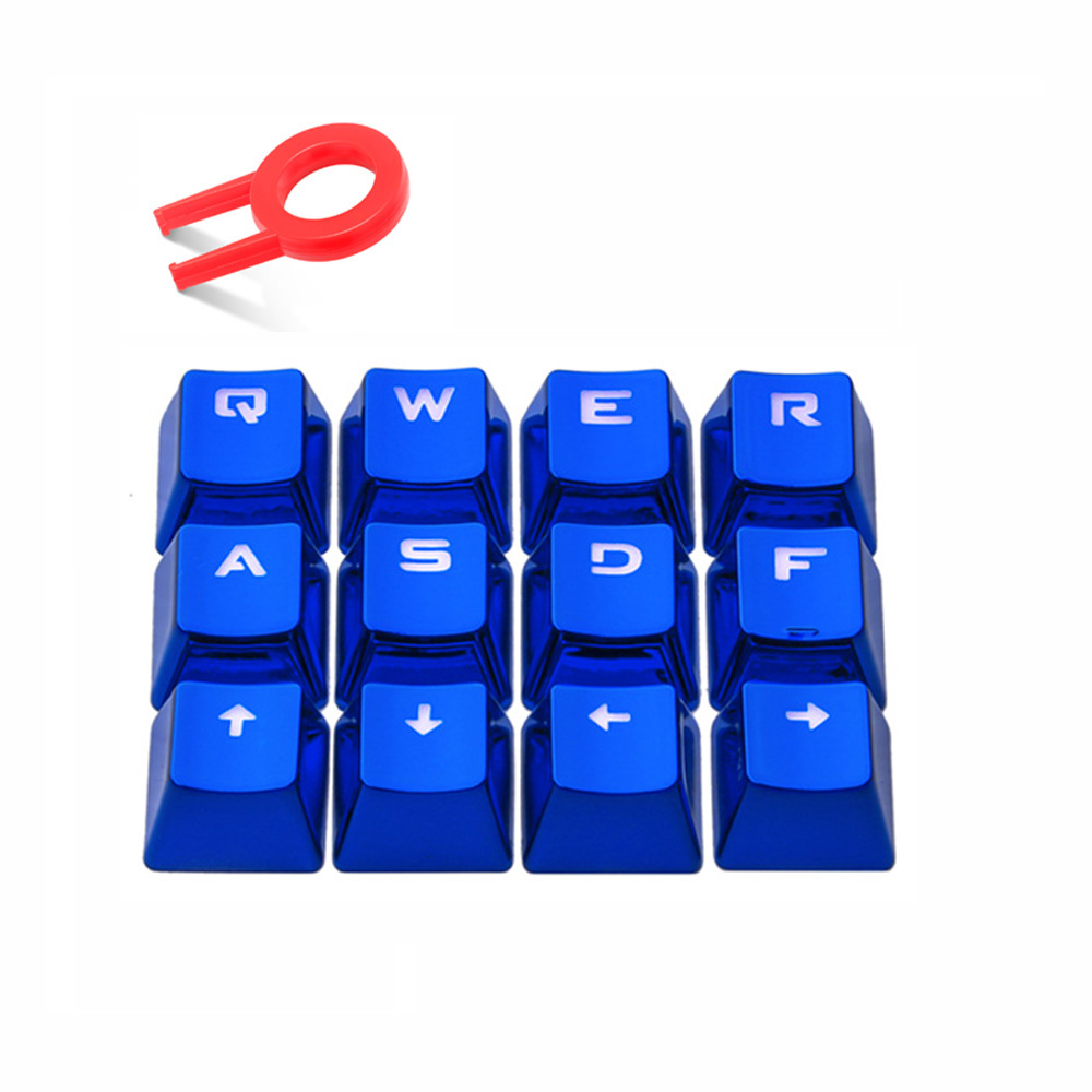Key Caps with Key Puller For Cherry MX Mechanical Keyboard FPS MOBA Game <font><b>PBT</b></font> <font><b>Keycaps</b></font> WASD Keys Set image