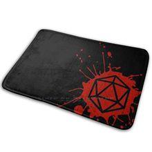 D20 коврик для защиты от брызг ковер Противоскользящий коврик для входной двери для брызг крови D20 кости для ролевых игр Dnd Dragon ролевые игры