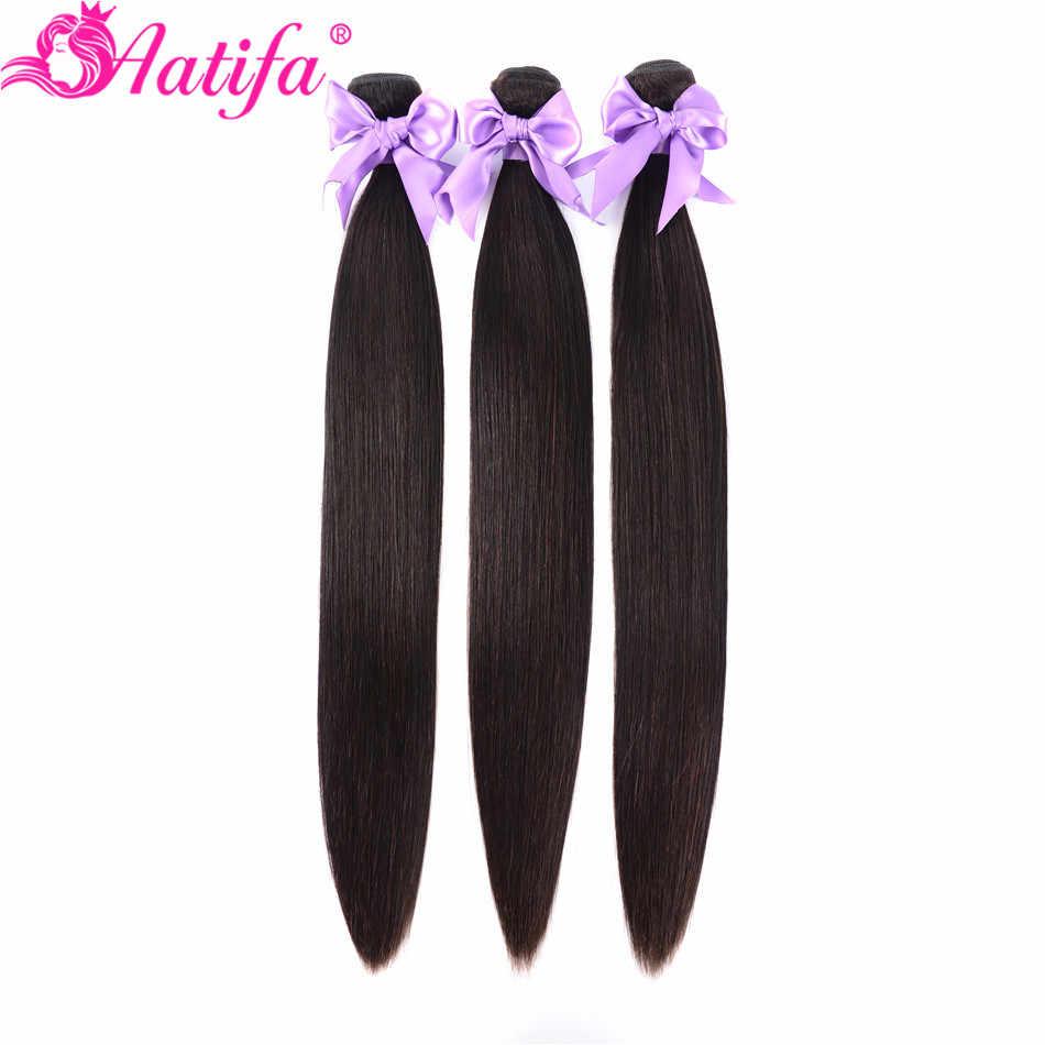 ברזילאי ישר שיער חבילות 1/3/4 Pcs שיער טבעי חבילות רמי הארכת שיער צבע טבעי 8-28 אינץ שיער Weave Aatifa