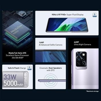 "Global Version Infinix Note 10 Pro NFC 6.95""FHD Smartphone 6GB 64GB 5000mAh 64MP Camera Octa-core Helio G95 Mobile Phone 2"