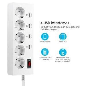 Image 2 - Power Streifen 2/3/4 EU Outlets Steckdose mit USB Quick Charge Port für Smartphones Verlängerung Kabel 1.5/1.8/ 3M Adapter Dock