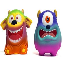 Squishy Squish Big Mouth And Big Eyes Strange Slow Rebound Decompression Vent Squishi Children Toys Early Education Anti-Stress(China)