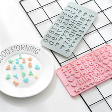 Mini Number Letter Silicone Mold Chocolate Cakes Decorating Tool Food Grade Fondant Molds Candy Molds Kitchen Accessories Baking ballet skirt cakes molds food grade silicone sugar chocolate cake cookies mold diy decorating baking tool