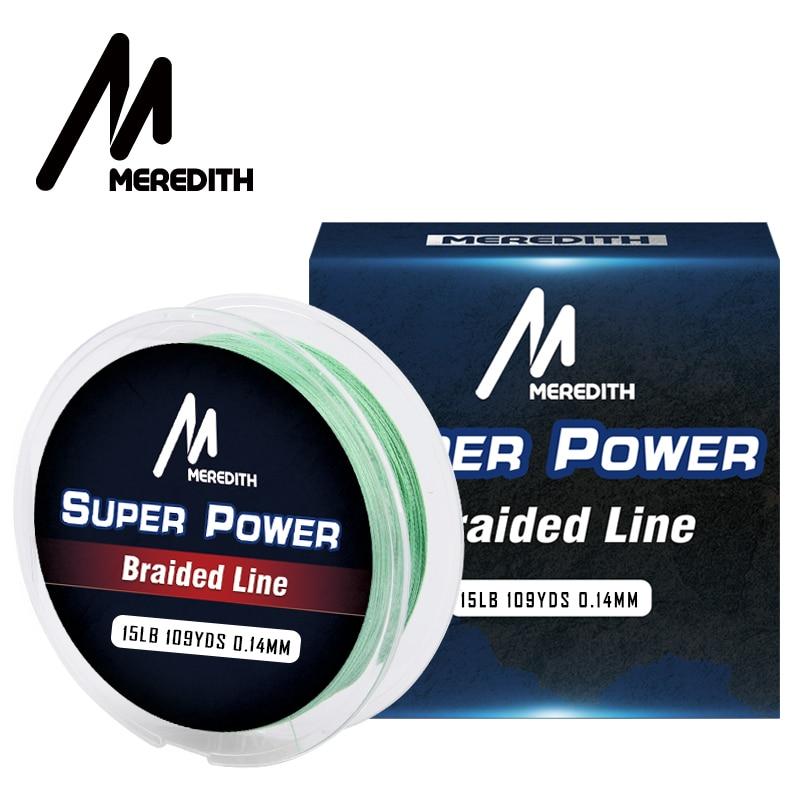 MEREDITH Brand 100M 300M 500M 1000M 4 Strand 10-40LB Braided Fishing Line PE Multilament Braid Lines Lake River Fishing