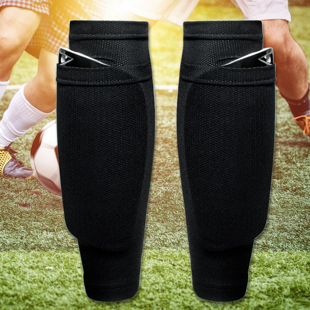 1 Pair Band Brace Support Soccer Leggings Adults Kids Protective Shin Guard Socks Sleeves Abrasion Resistant Football Games