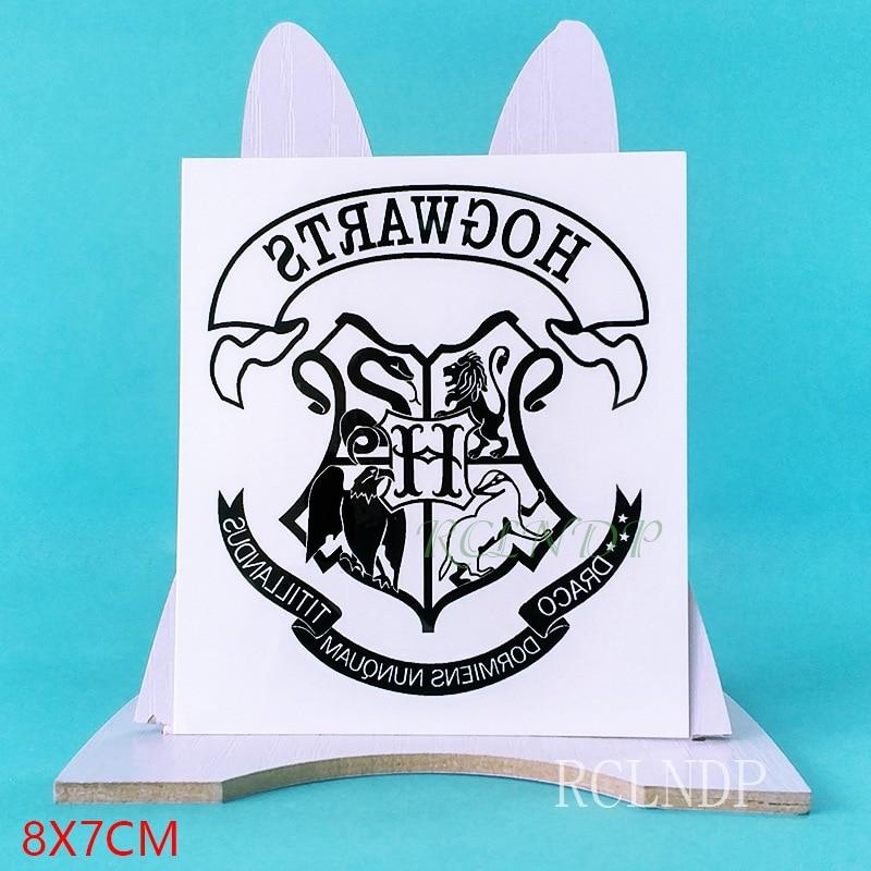 Waterproof Temporary Tattoo Sticker Movie Hogwarts School Of Witchcraft And Wizardry Fake Tatto Flash Tatoo For Men Women