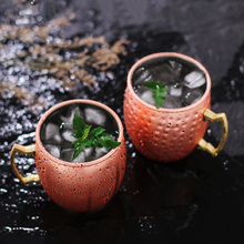 5Hammered Copper Mosco Mule Mug with Classic Handle Glass Hammered Brass Steel Gift Mugs Tumbler cooper cup Beer cups