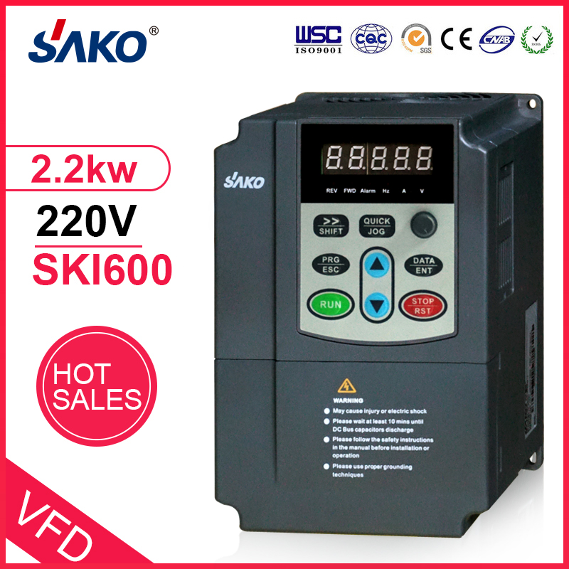 1.5KW 3HP 220V Single Phase Variable Frequency Converter Speed Control Inverter