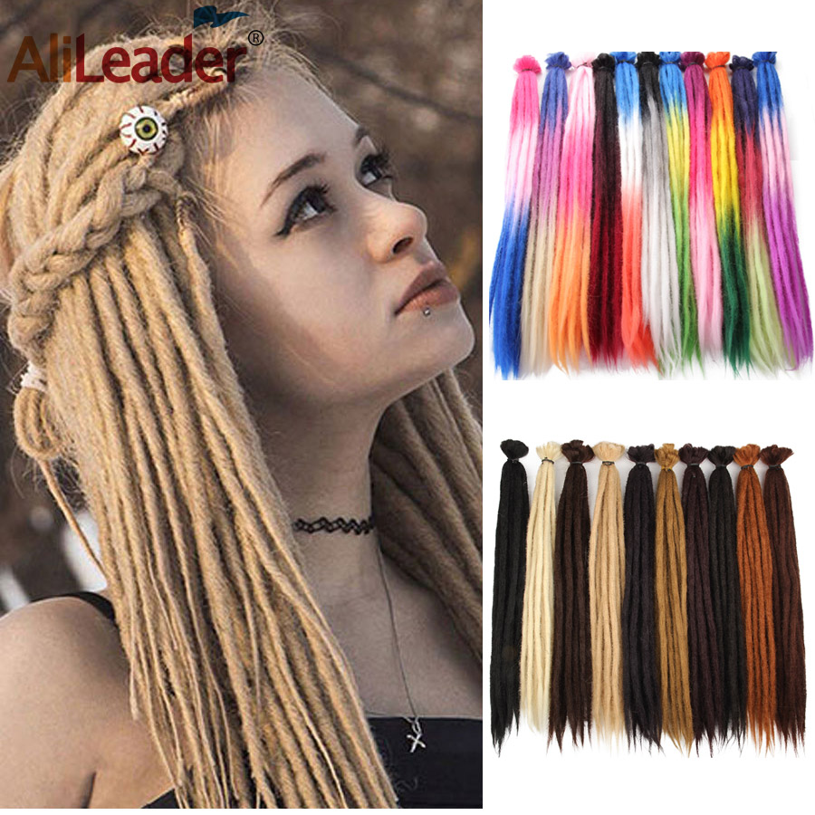Alileader Soft Crochet Hair Braids Colorful Dreadlocks Hair Extensions High Temperature Synthetic Braiding Hair