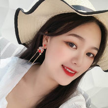 2019 Chinese Peking Opera Red Mask Finger Rings Necklace Dangle Stud Earrings Women Dating Bridal Bride Wedding Party Jewelry(China)