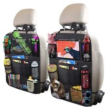 M size waterproof car storage debris bag child car seat backrest protection cover baby kick pad protection bag