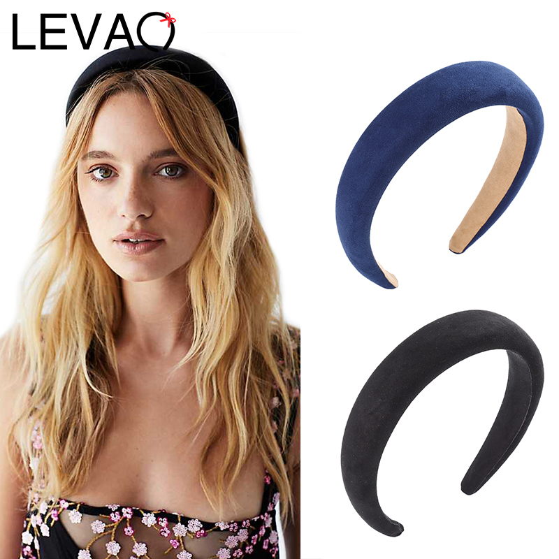 Elegant Women/'s Girl Padded Velvet Headband Multicolor Hairband Hair Accessries~
