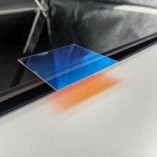 ダイクロイックガラスプレート光学ガラス屈折を通じてオレンジ色の反射ブルー44ミリメートル