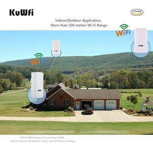 Image 4 - Kuwfi Router 1Km 300Mbps Draadloze Router Outdoor & Indoor Cpe Router Kit Wireless Bridge Wifi Repeater Ondersteuning Wds long Range