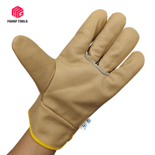 FGHGF Driver gloves first layer cowhide soft wear-resistant welder gloves garden blacksmith full leather short welding gloves