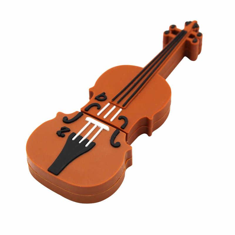 Binful 10 Phong Cách Nhạc Cụ Mô Hình Pendrive 4GB 16GB 32GB 64GB USB Đèn LED Violin/ đàn Piano/Đàn Guitar