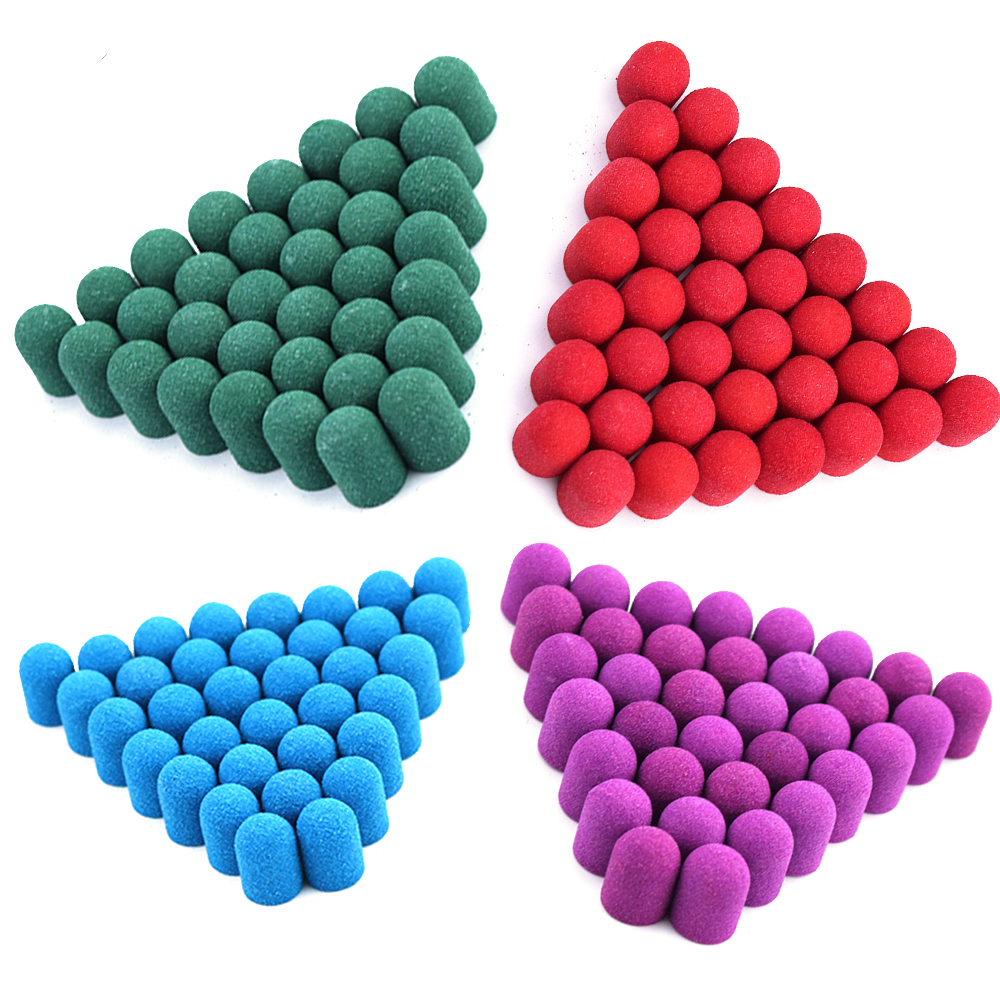 21pcs жидкость для шлифования шапки 10*15 мм фрезерный станок для ногтей Пластик основной Электрический с резиновой ручкой для полировки сверло...