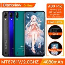 Blackview A60 プロオリジナルスマートフォン 3 ギガバイト + 16 ギガバイト MT6761V 携帯電話アンドロイド 9.0 水滴画面 4080 mah タッチ id 4 グラム携帯電話