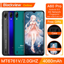 Camera Hành Trình Blackview A60 Pro Chính Hãng Điện Thoại Thông Minh 3GB + Tặng Kèm MT6761V ĐTDĐ Android 9.0 Waterdrop Màn Hình 4080 MAh Touch ID 4G Di Động