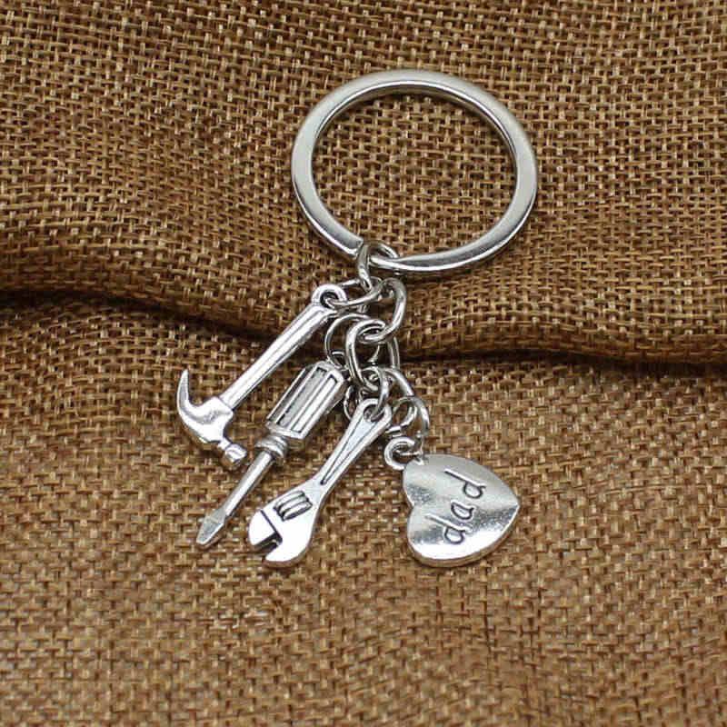 Nowe narzędzie wisiorek brelok, taty brelok do kluczy, prezent na dzień ojca brelok do kluczy, ojciec brelok akcesoria